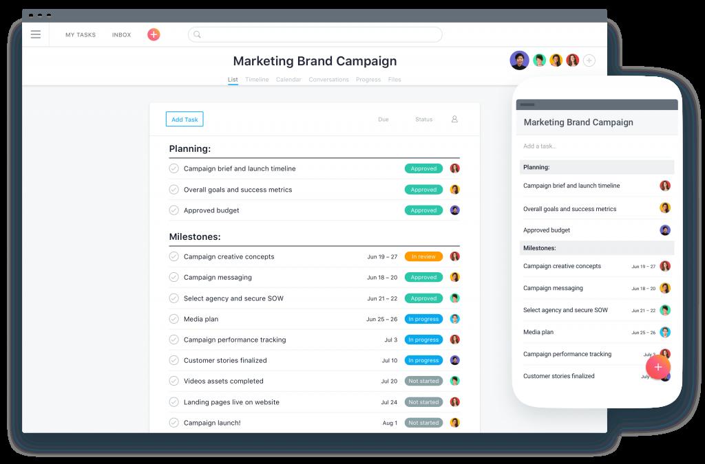 asana product management tool